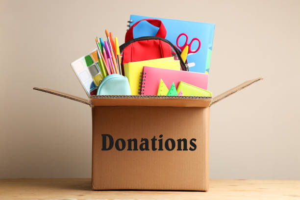 Donate used school supplies